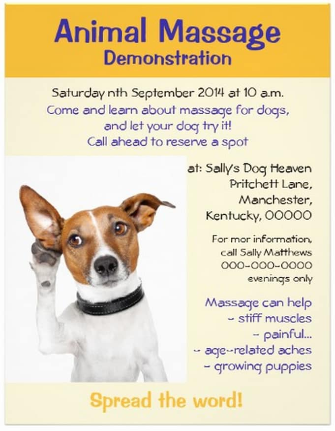 Animal-massage-event-flyer