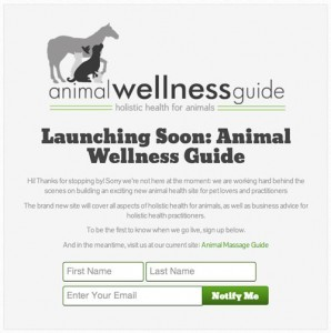 Coming-soon-page - Blogging tools by Animal Wellness Guide