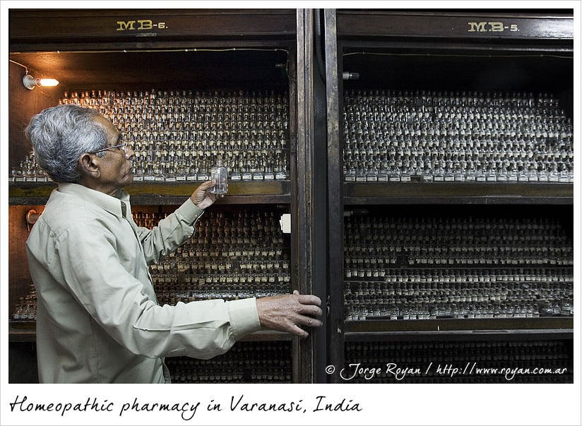 Homeopahic pharmacy in Varanasi, India