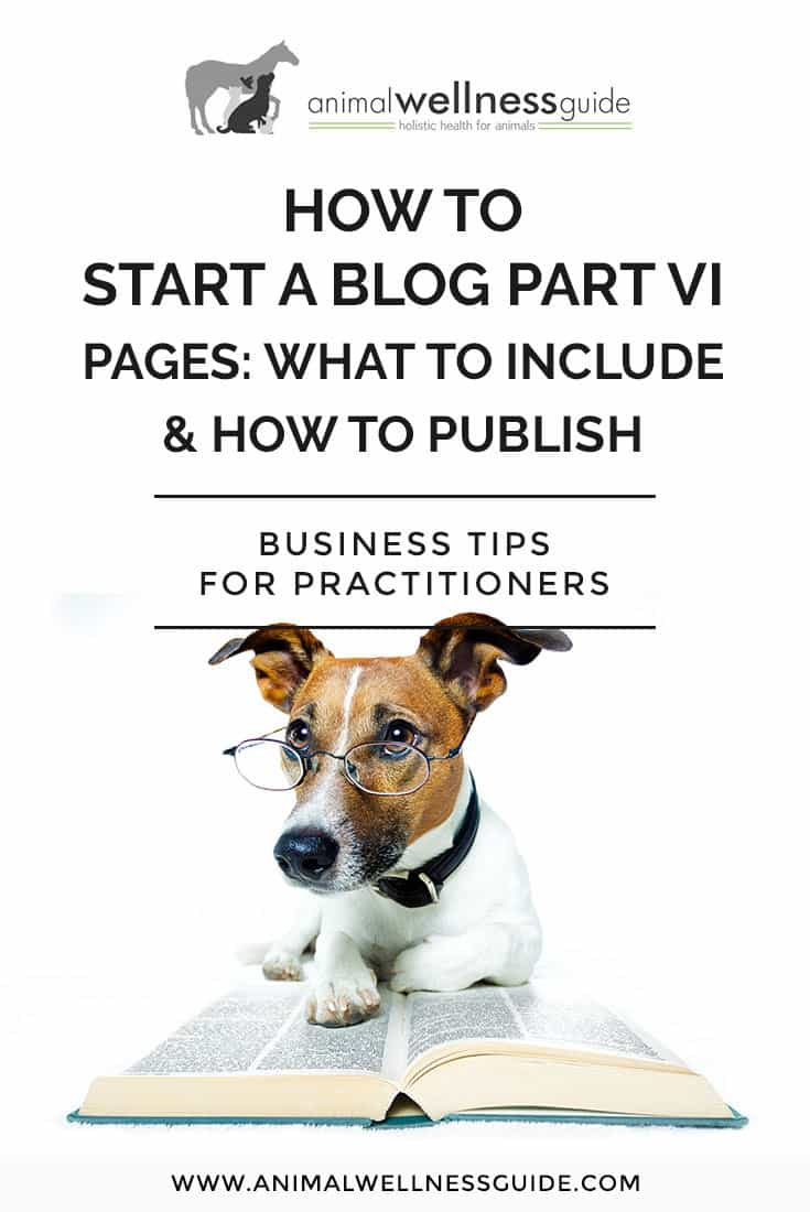 Blogging for Beginners: How to Start a Blog Part 6. Today, we share tips on blog pages to have on your site, and a step-by-step tutorial on how to create and publish pages.