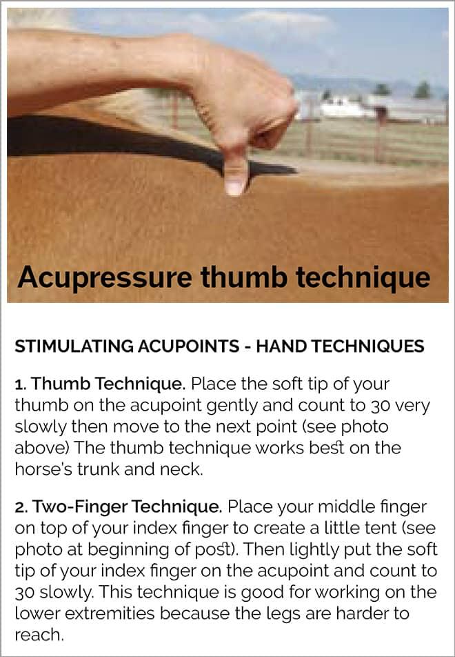 Acupressure techniques